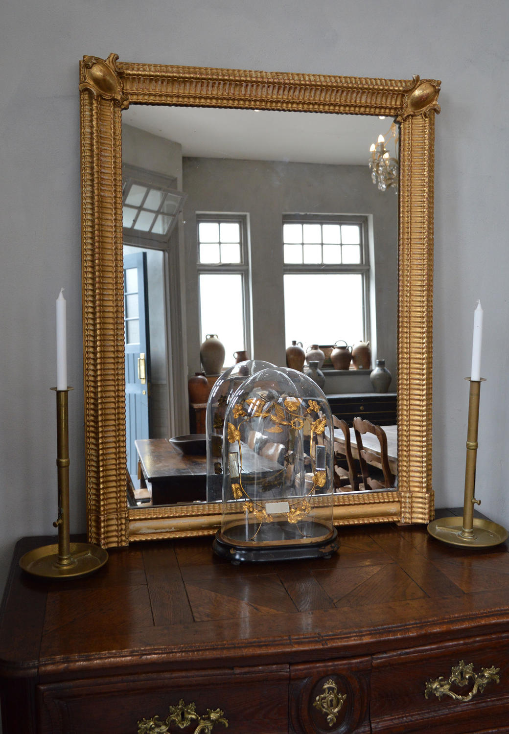 Mid 19th Century Louis Philippe Gilt Ripple frame Mirror