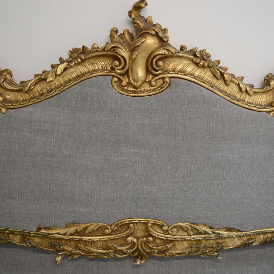 King Size Venetian Gilt and upholstered Bedstead