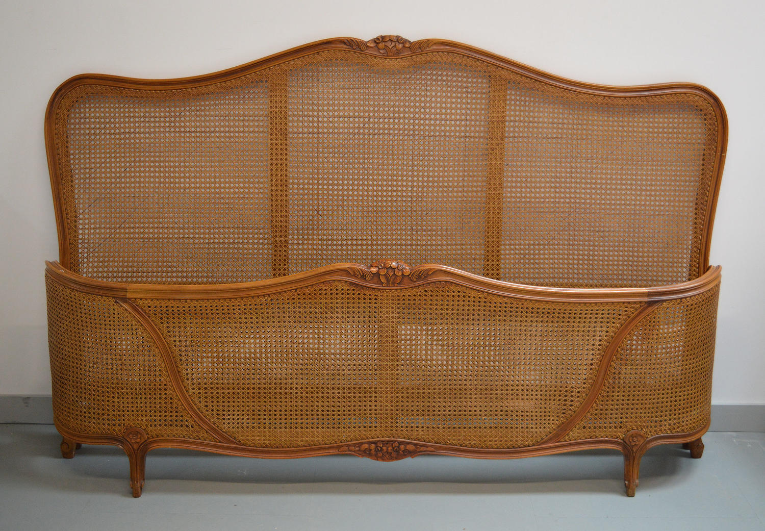 Super King size Louis XV style caned bedstead