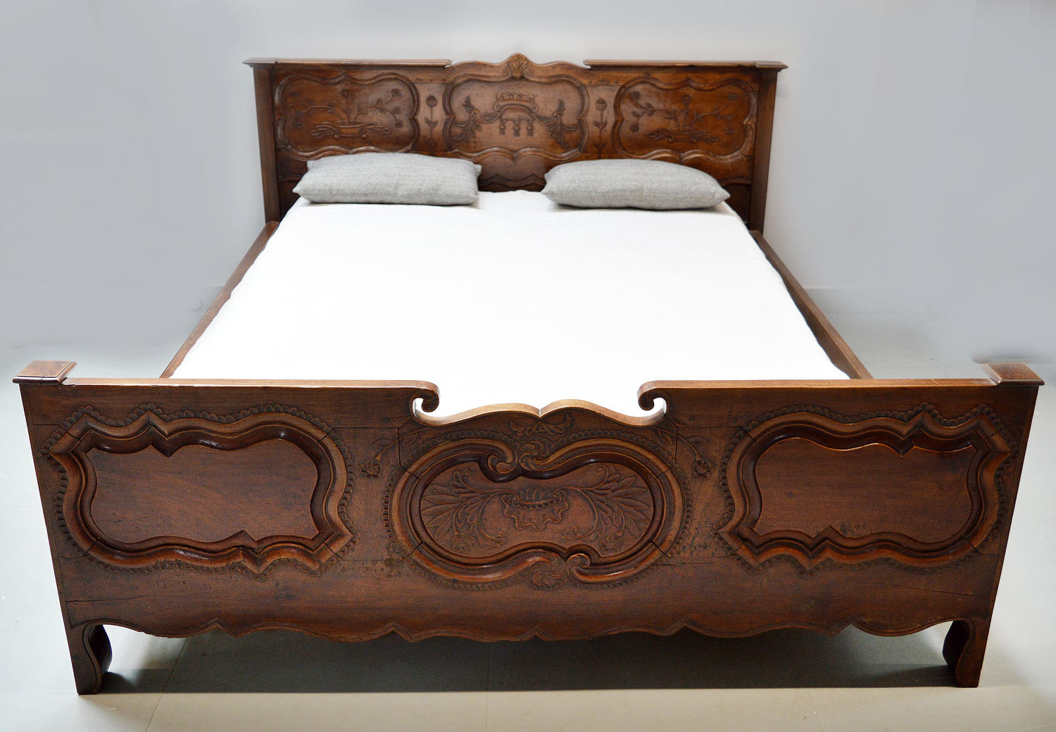 19th Century Rennes Marriage King size Bedstead