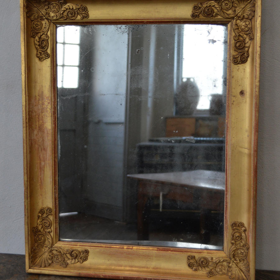 Small 19th Century Charles X mercury & gilt mirror