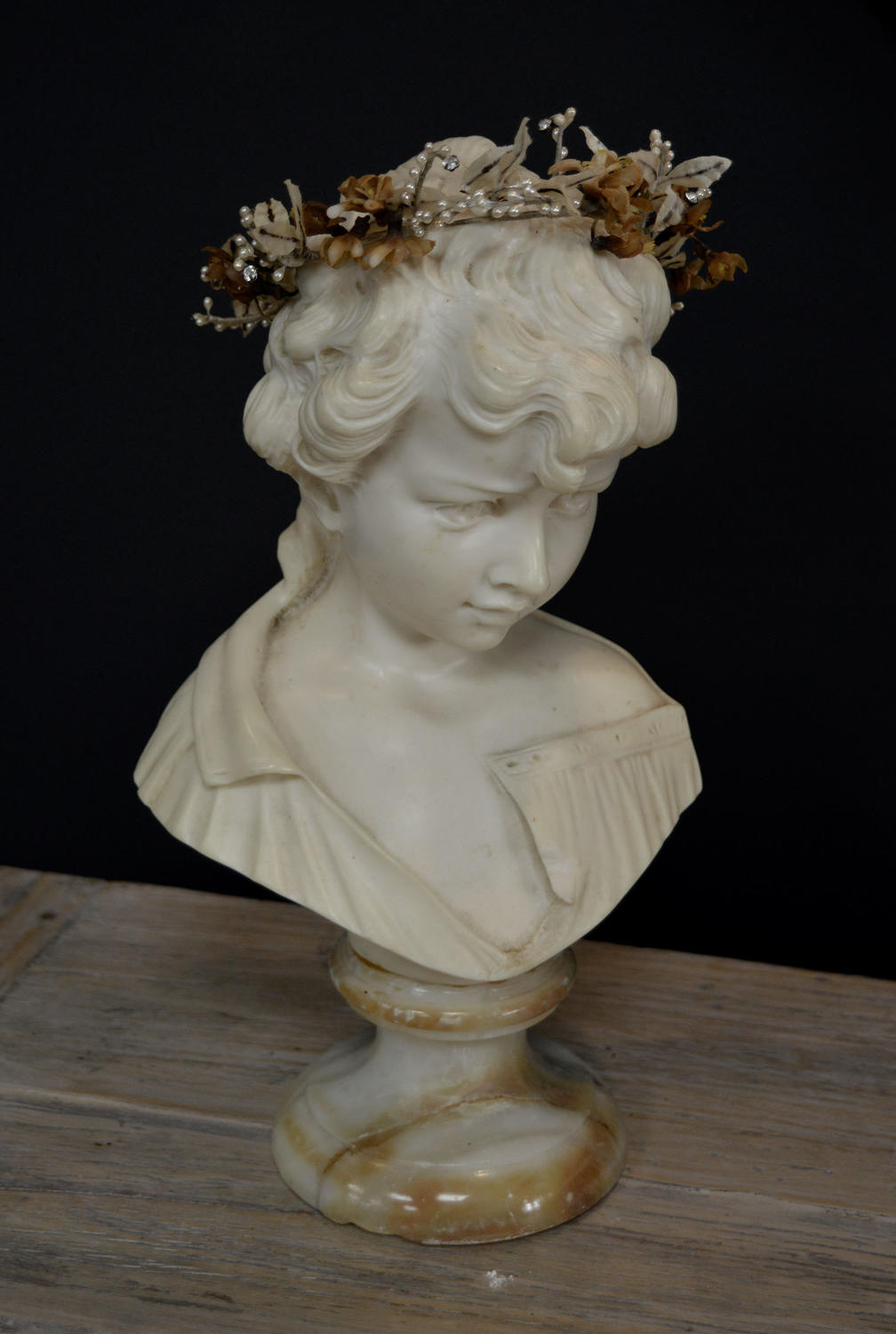 Early to mid Century French Girl Bust