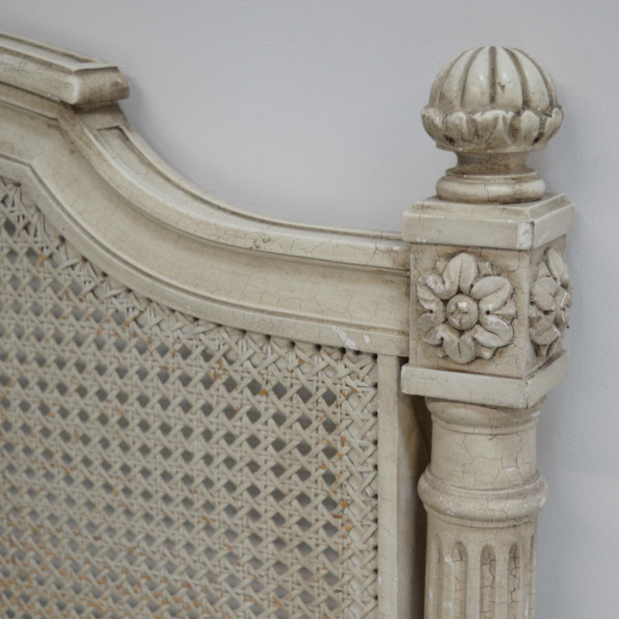 King Size Louis XVI style cane bedstead