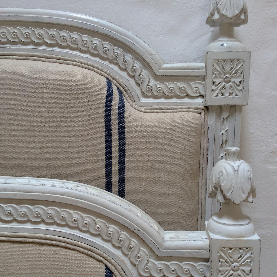 19th Century Louis XVI style double upholstered Bedstead