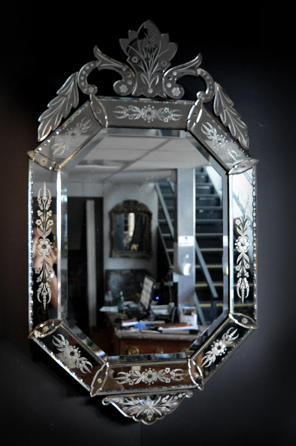 Large late 19th Century Venetian Mirror