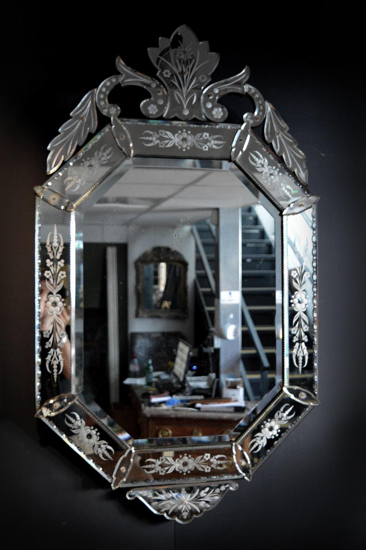 Large late 19th Century Venetian Mirror