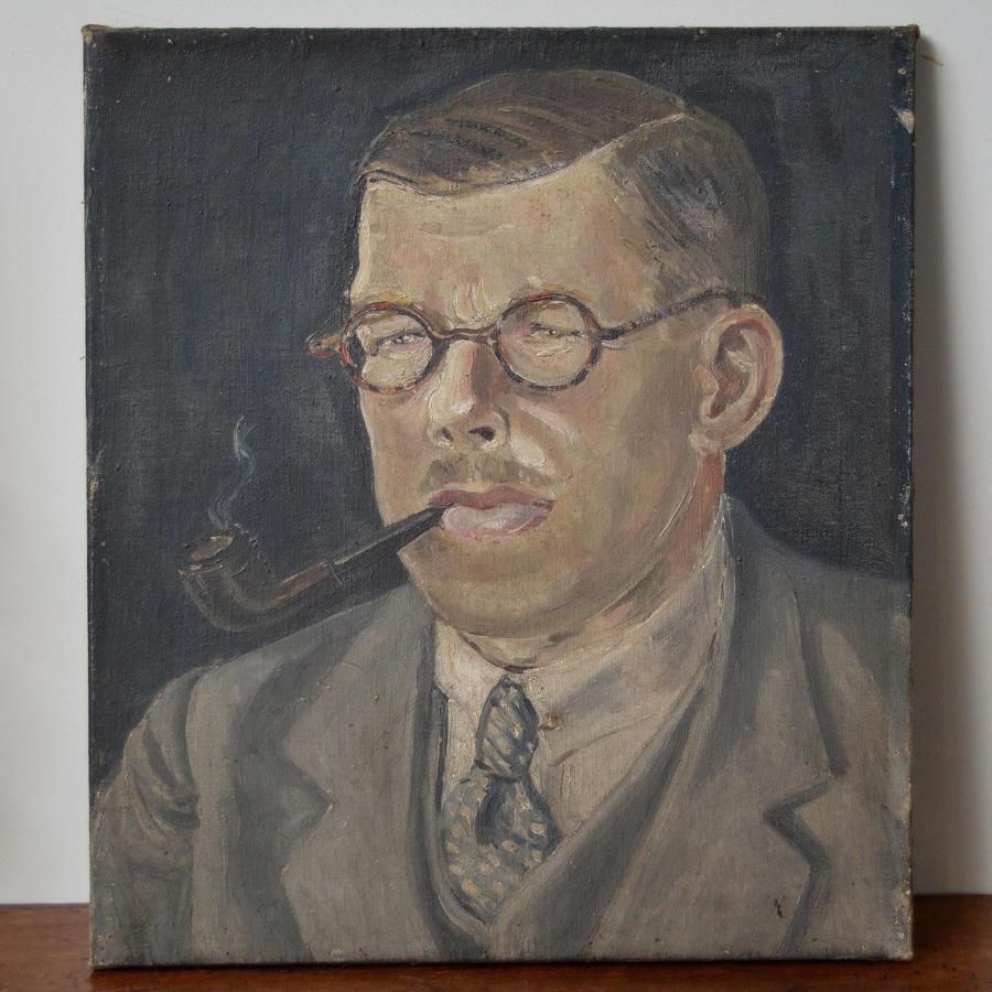 1920's Portrait of a Gentleman, Oil on canvas