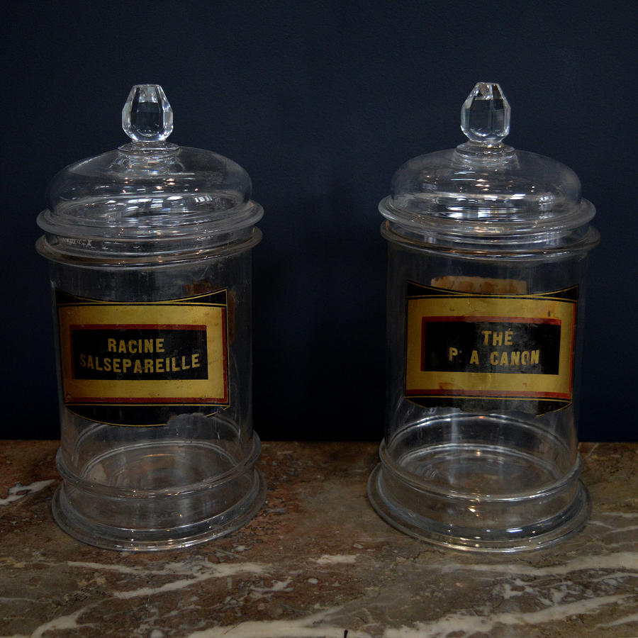 Pair of Late 19th Century Apothecary Jars