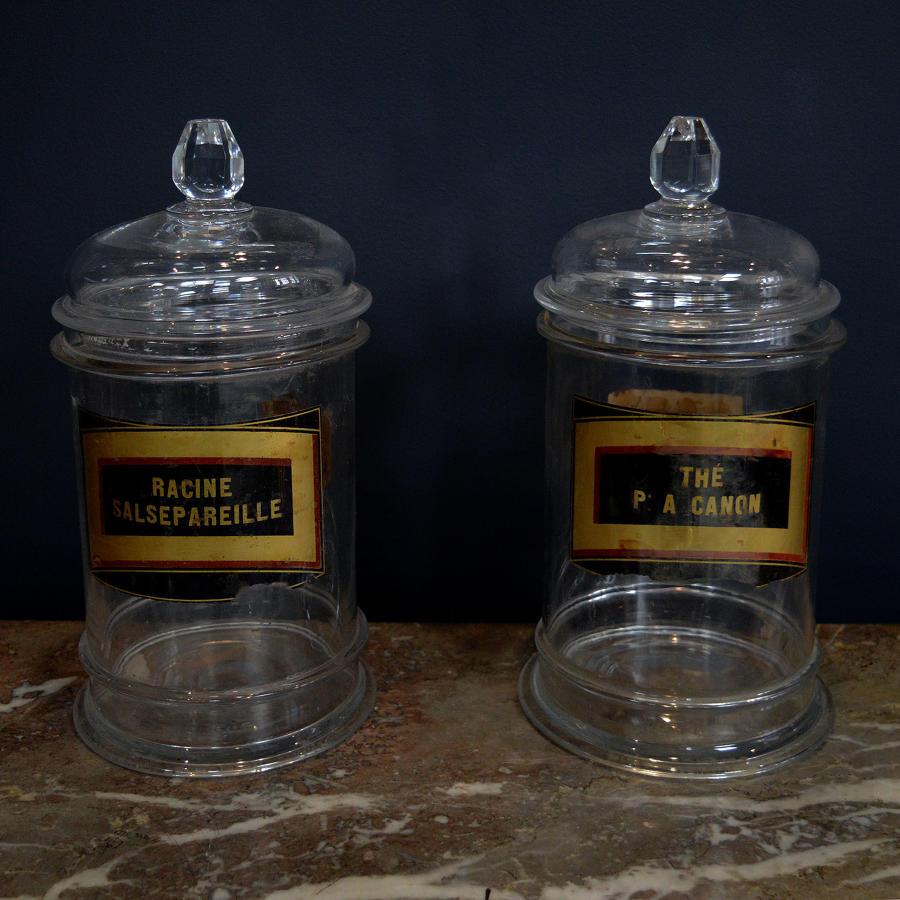 Pair of Late 19th Century Apothecary Jars