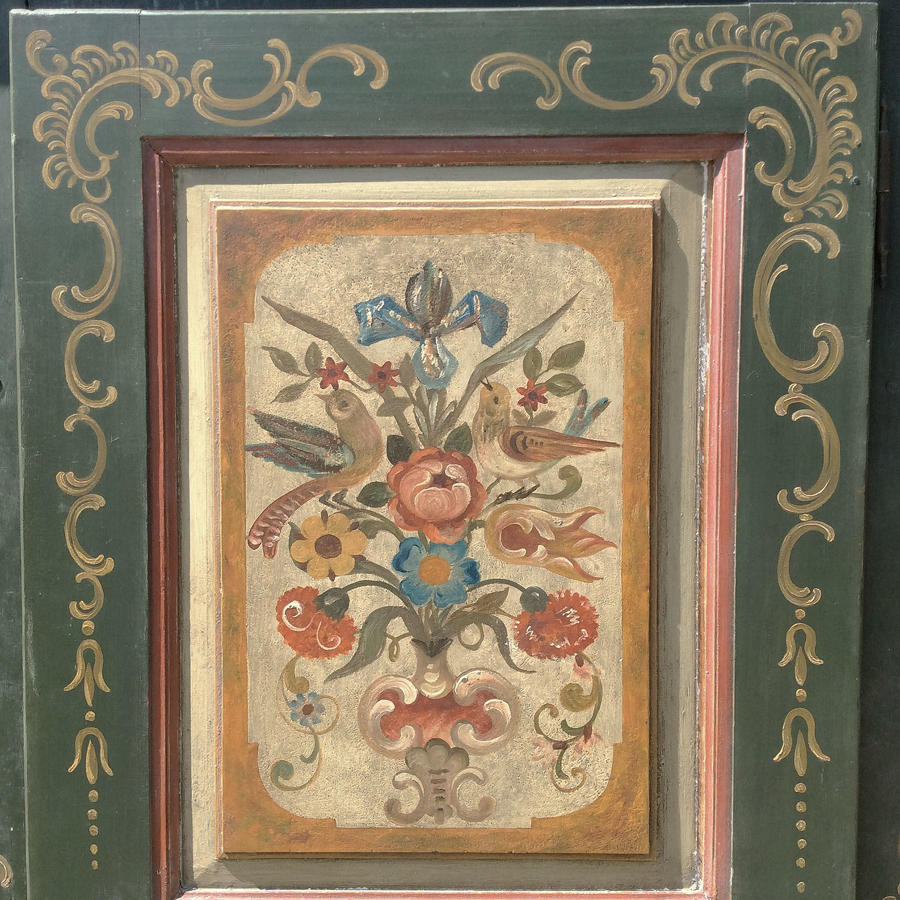 18th Century Hand painted Alsace Armoire