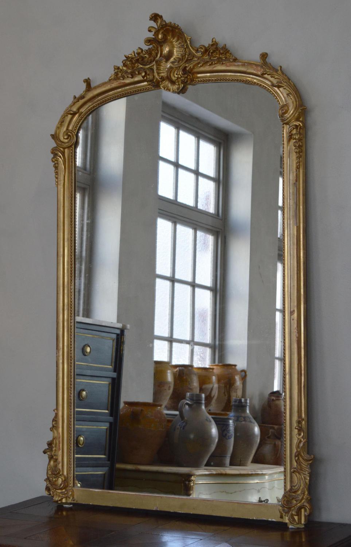 Large 19th Century Louis XV style mirror