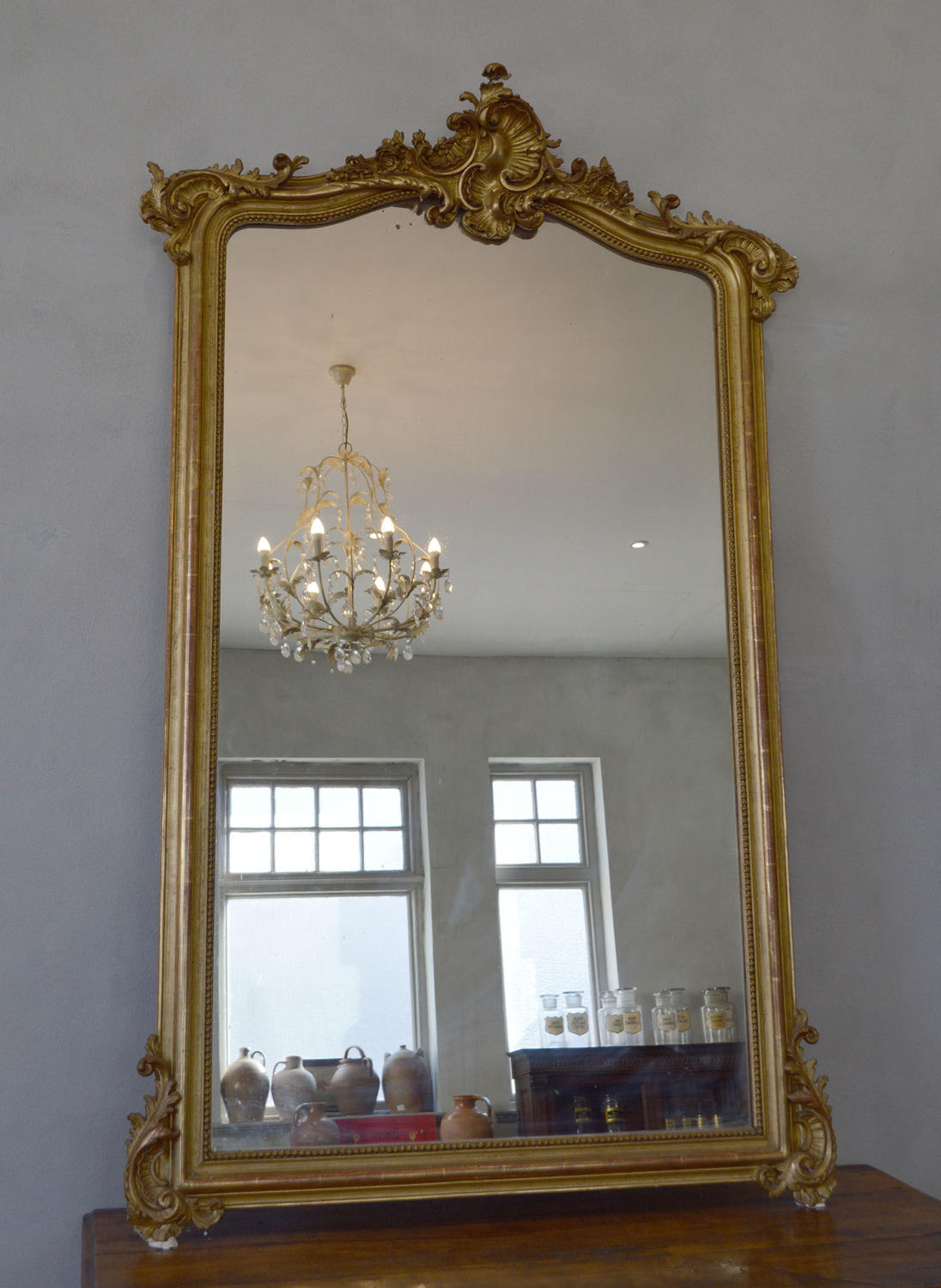 19th Century Louis XV style gilt mirror