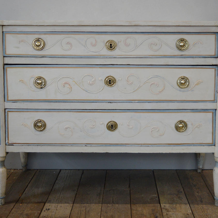 18th Century Piedmont Italian Painted Commode