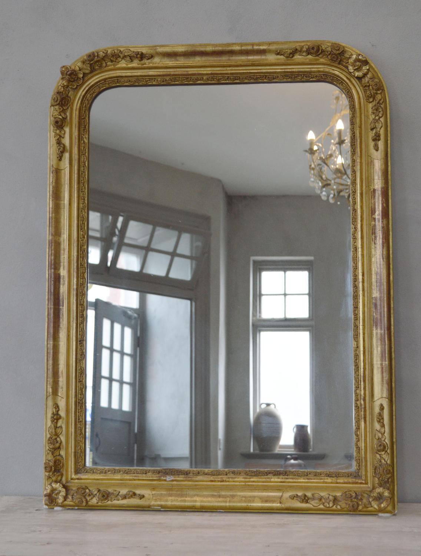 19th Century Louis Philippe Gilt Mirror