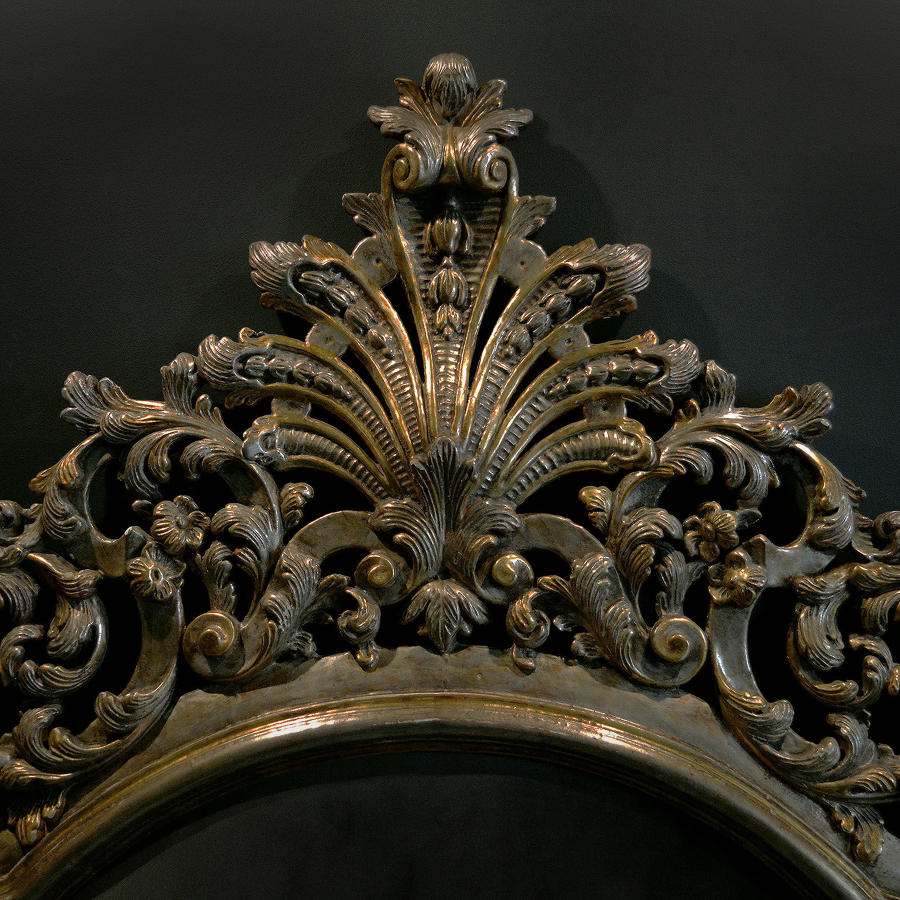Large King Size Italian Silver gilt Carved Bedstead