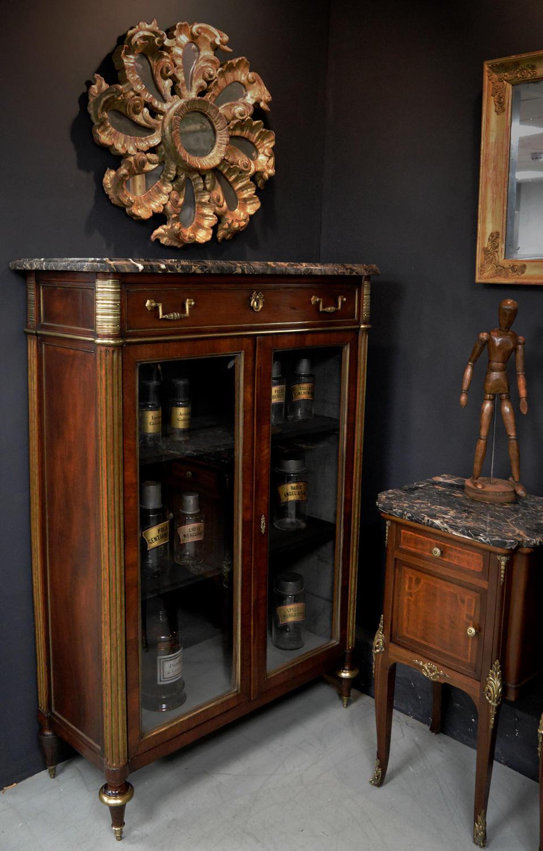 Rare 18th Century Louis XVI Mahogany Bookcase / Cabinet