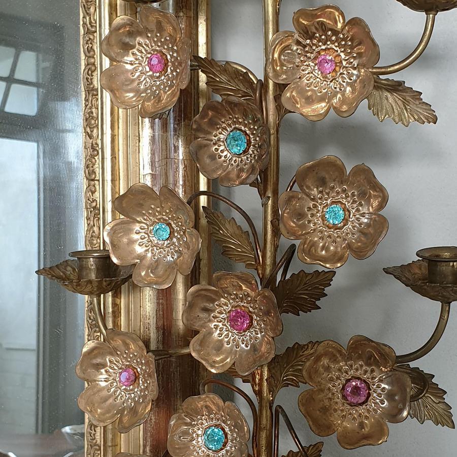 Large Pair of 19th Century Ecclesiastical Gilt Bronze Candlesticks