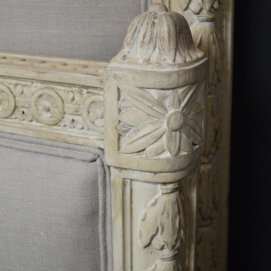 19th Century Napoleon III King-size Upholstered Bedstead