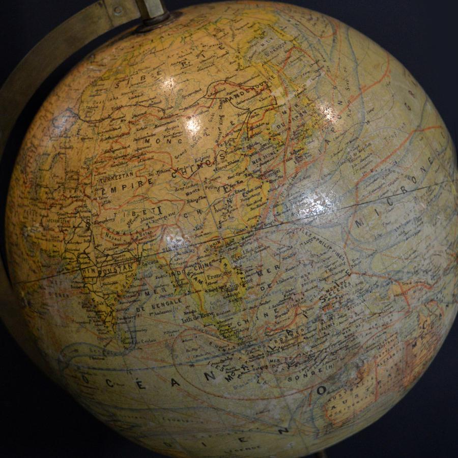 Antique French Terrestrial Globe c1900-10