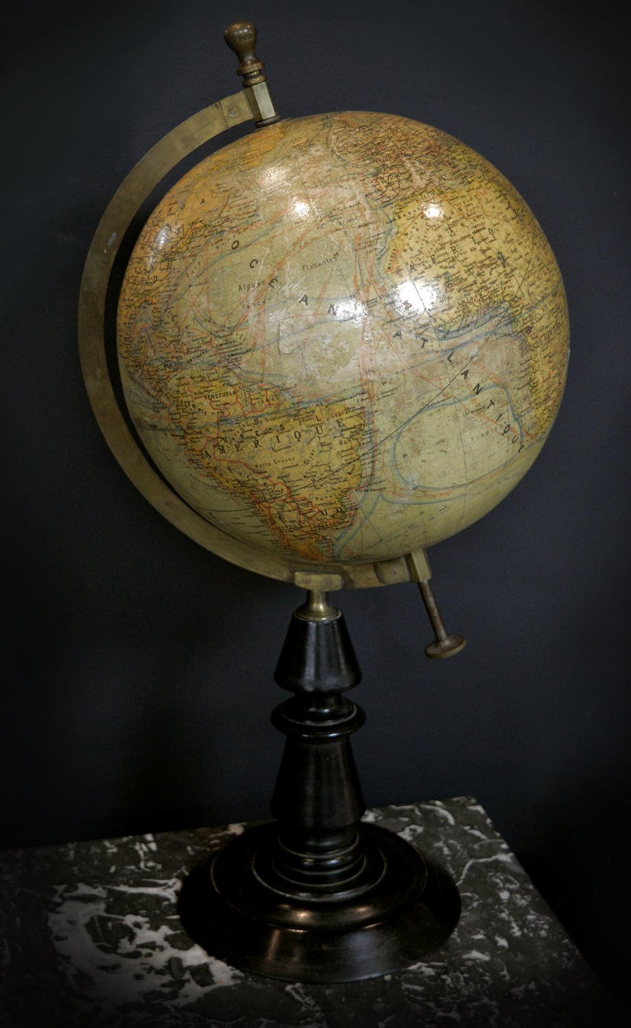 Antique French Terrestrial Globe c1900-10