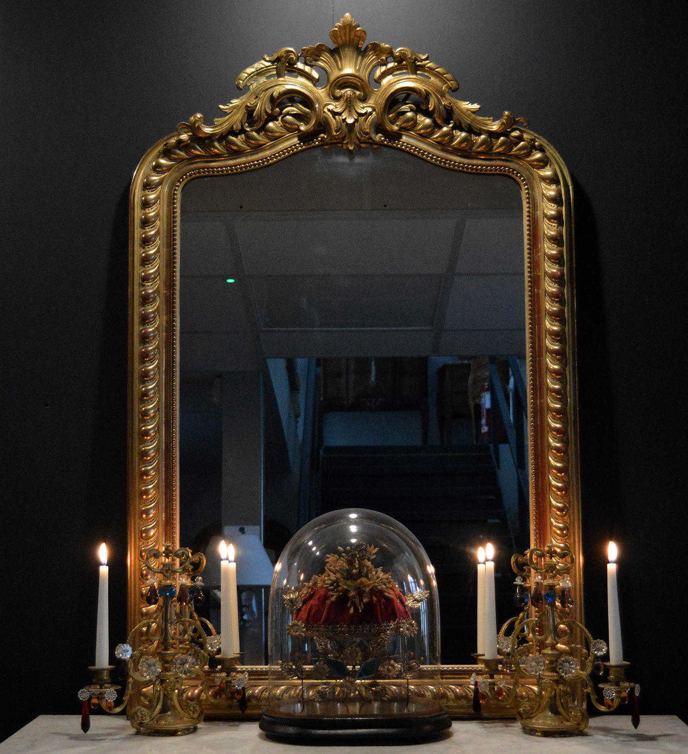 19th Century Napoleon III gilt mirror