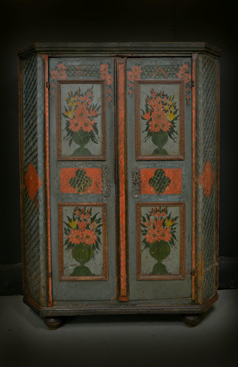 18th Century Alsace Marriage Armoire