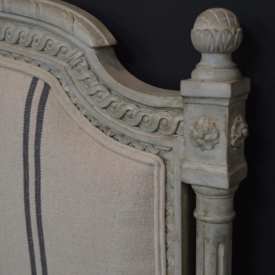 King Size Louis XVI style Upholstered Bedstead c1900-10