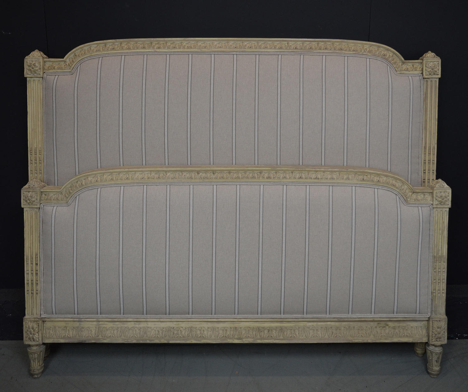 19th Century King-size Louis XVI style Upholstered Bedstead