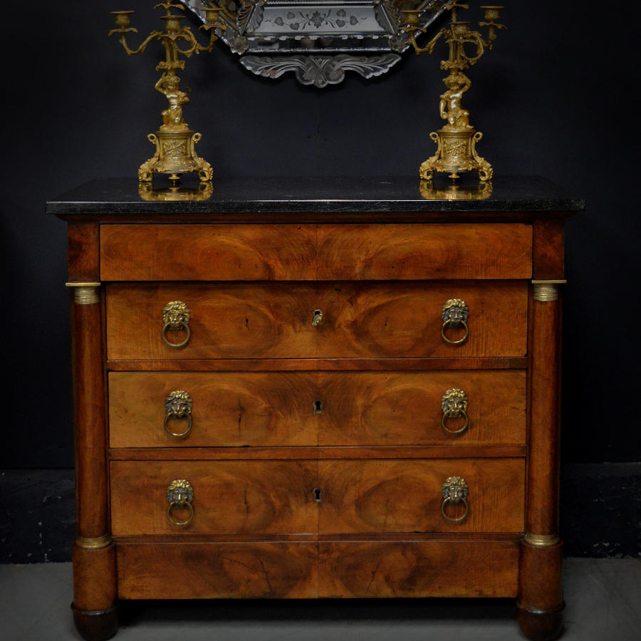 Small 19th Century Empire Cherry Commode