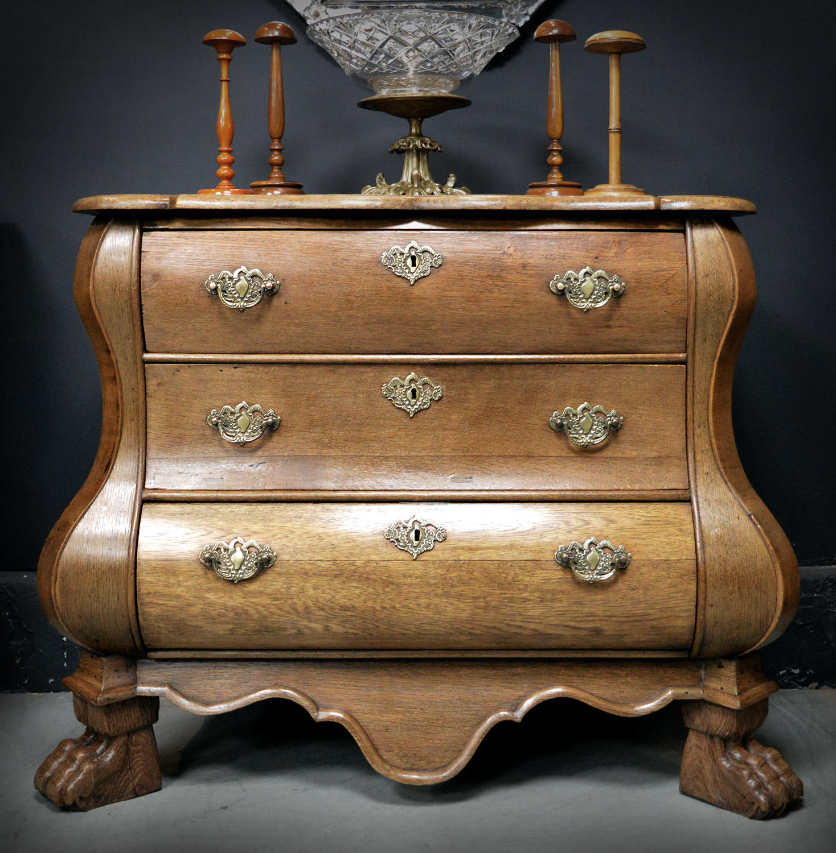 Late 18th Century Dutch Oak Bombe Commode
