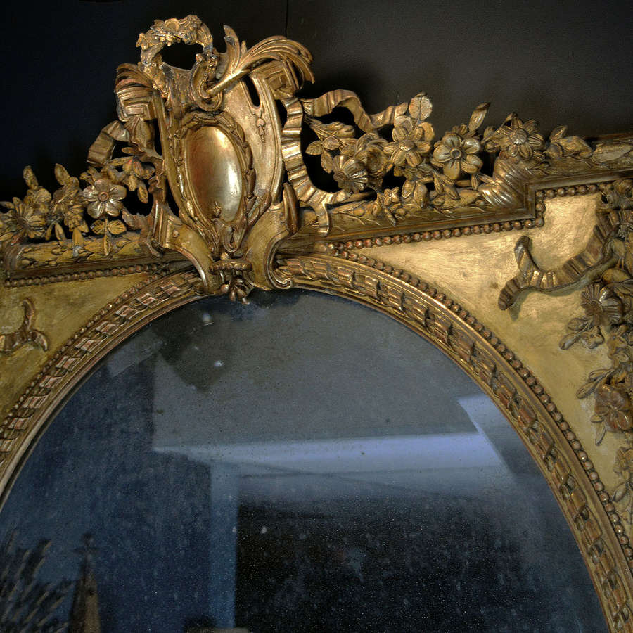 Superb early 19th Century Louis XVI style gilt mirror