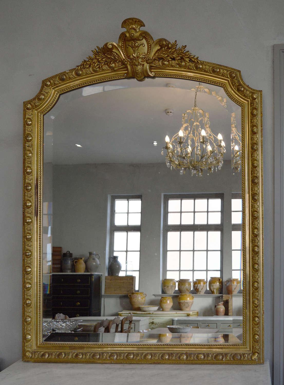 Large Mid 19th Century Napoleon III gilt Mirror