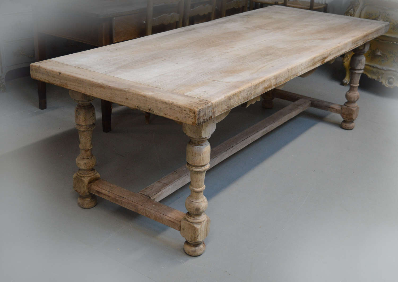 Late 19thC Walnut Savoyard Refectory Table