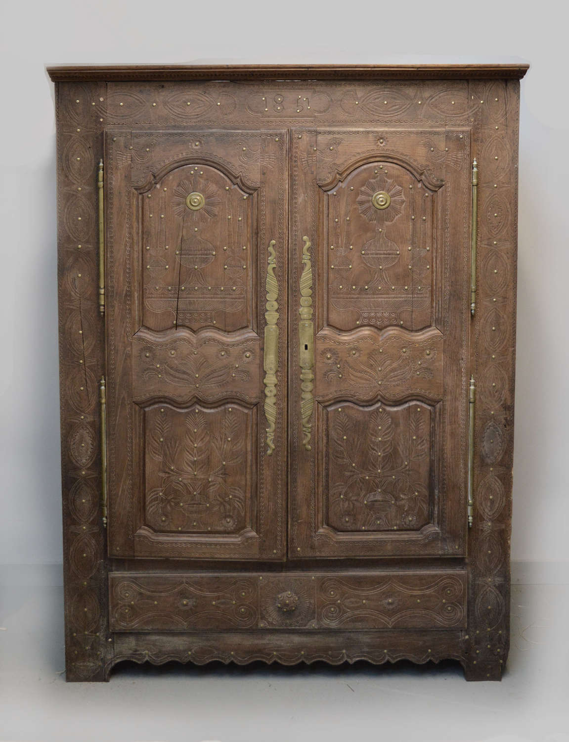 Mid 19th Century Breton Marriage Armoire