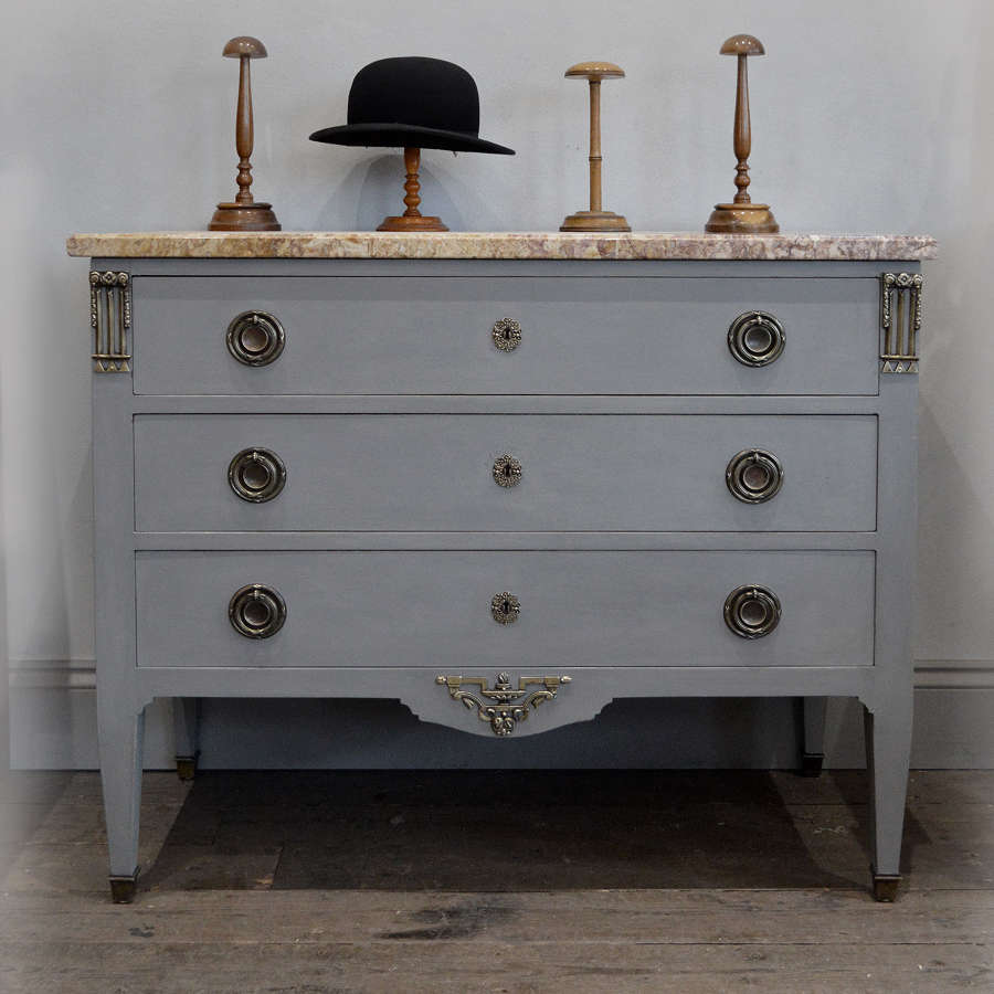 1910-20's Directoire Marble top Commode