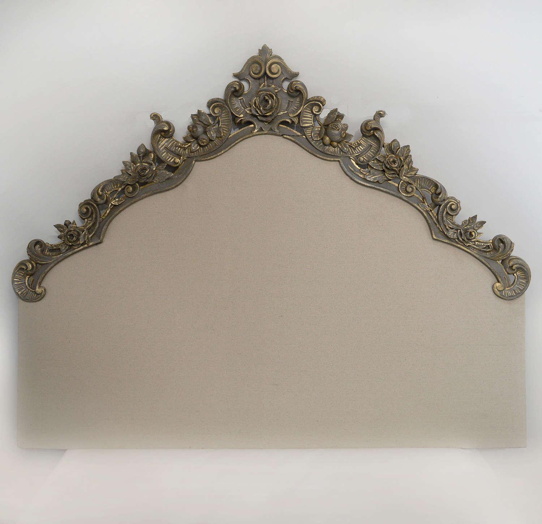 19th Century Carved Venetian Headboard