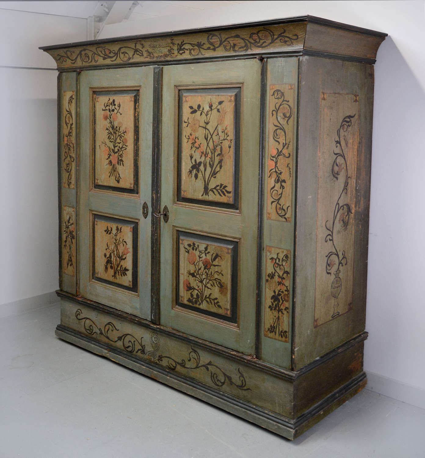 Large 18th Century Alsace marriage Armoire