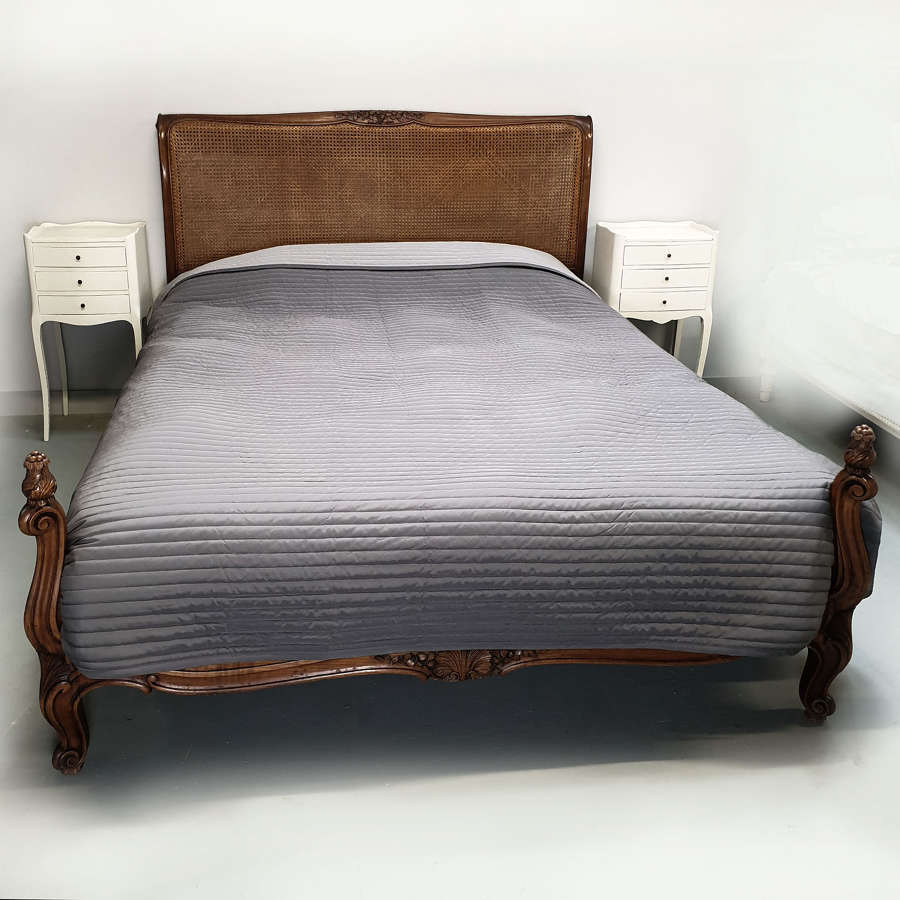 Louis XV style Walnut King size Lit Bateau