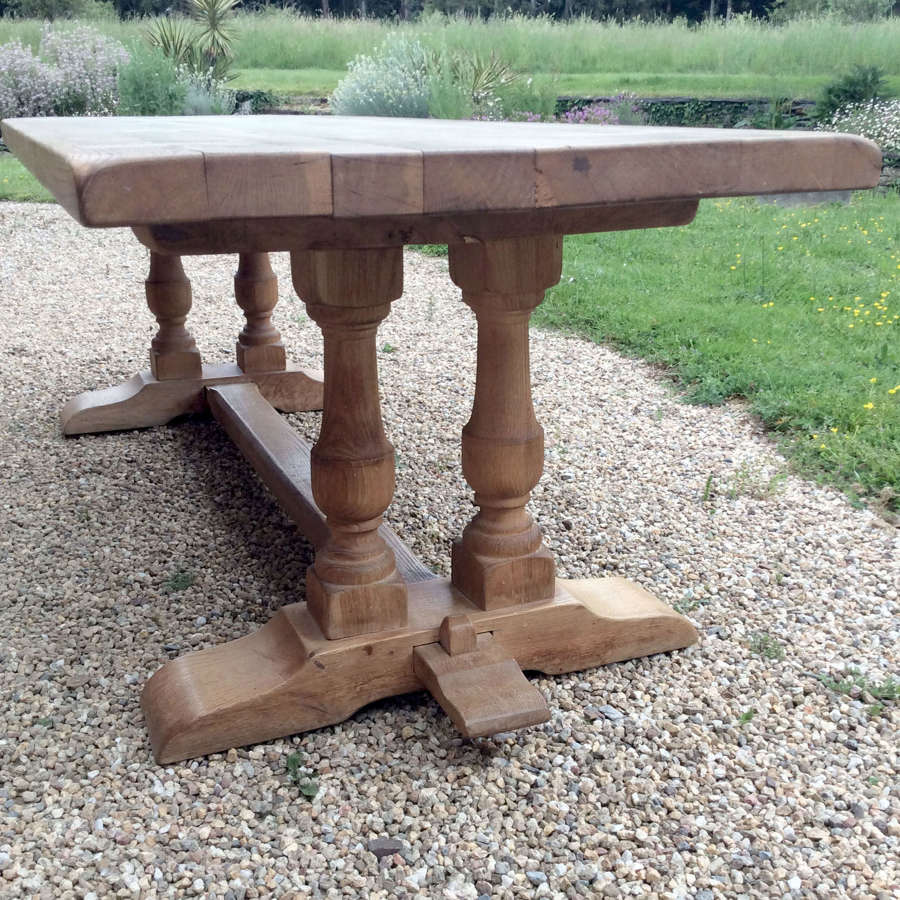 Large Heavy weathered oak Monastery table
