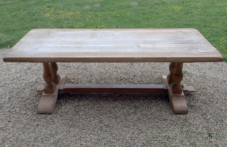Large Heavy weathered oak Monastery table