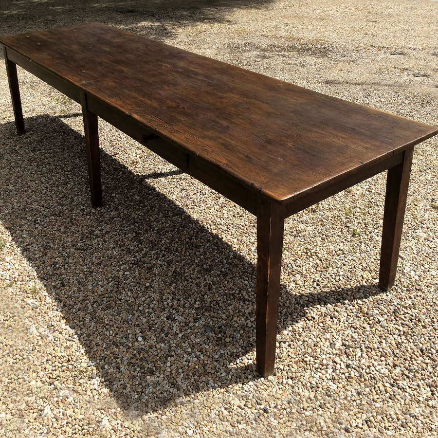 Large French farmhouse Scotts pine table