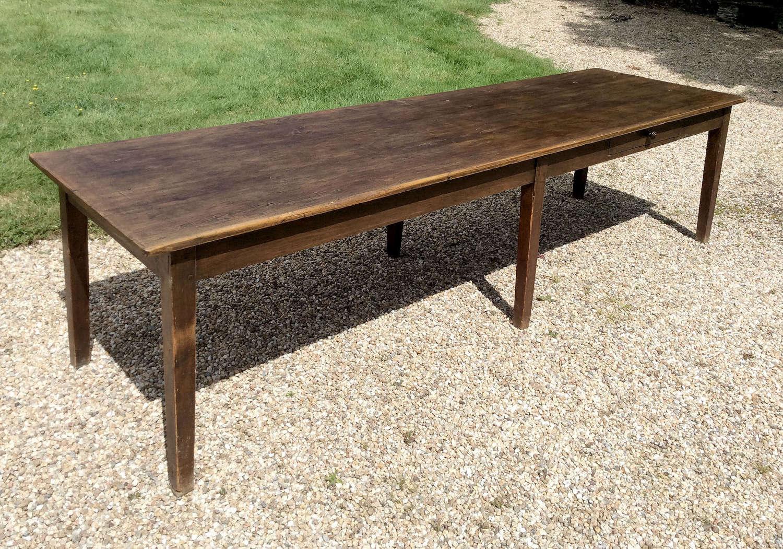 Large French farmhouse Scotts pine table