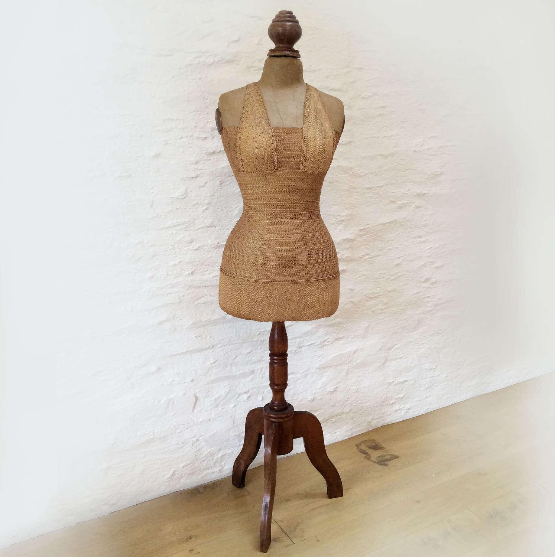 Vintage French Shop Dressmakers Mannequin c1940-50