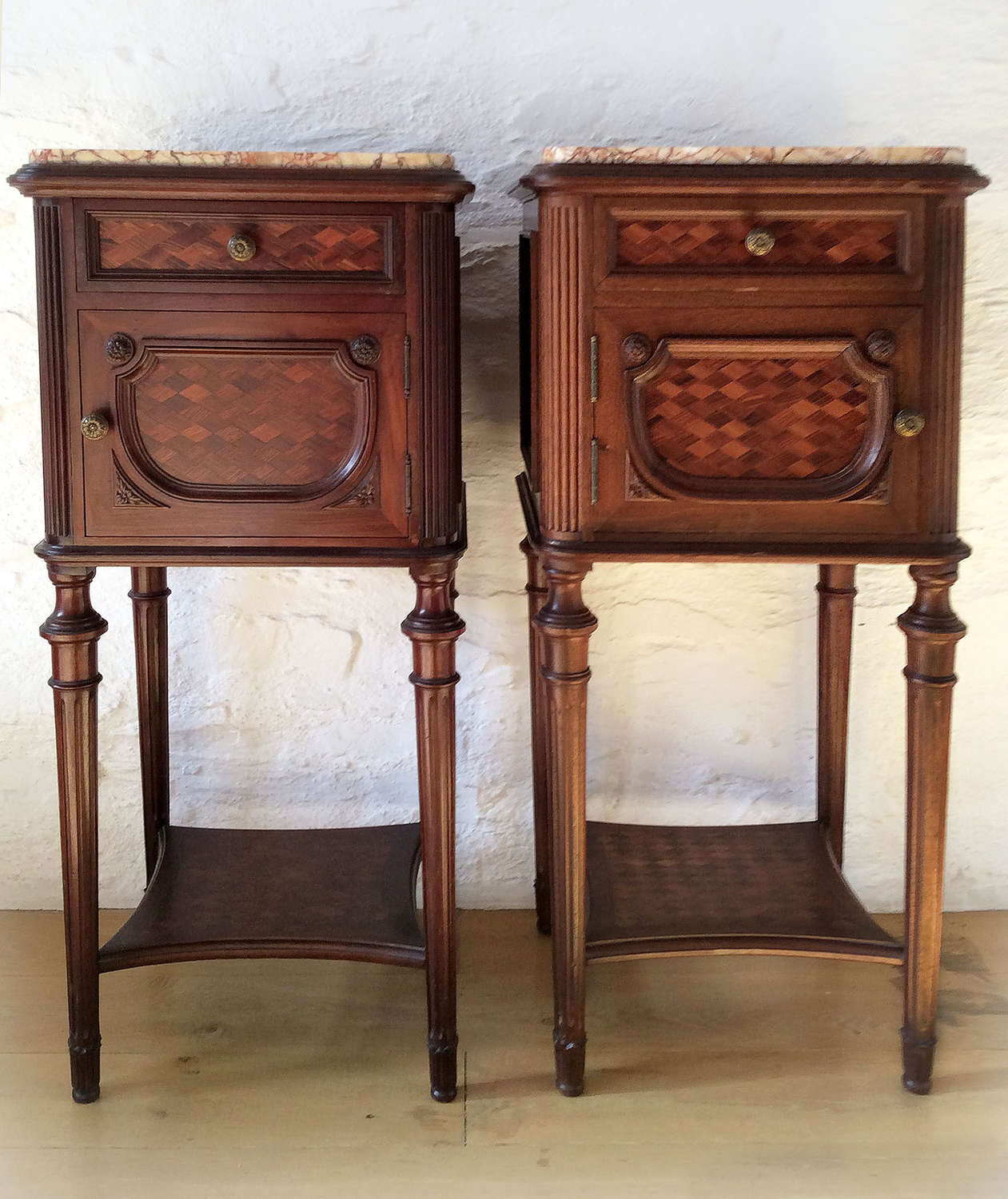 Pair of 19th Century Louis XVI style Bedsides