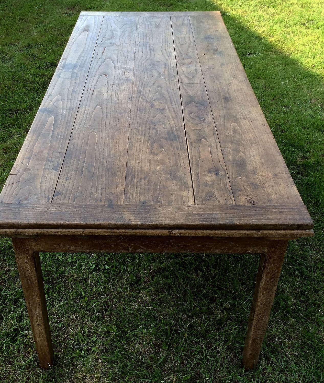 Rare 19th Century Extending Farmhouse Table