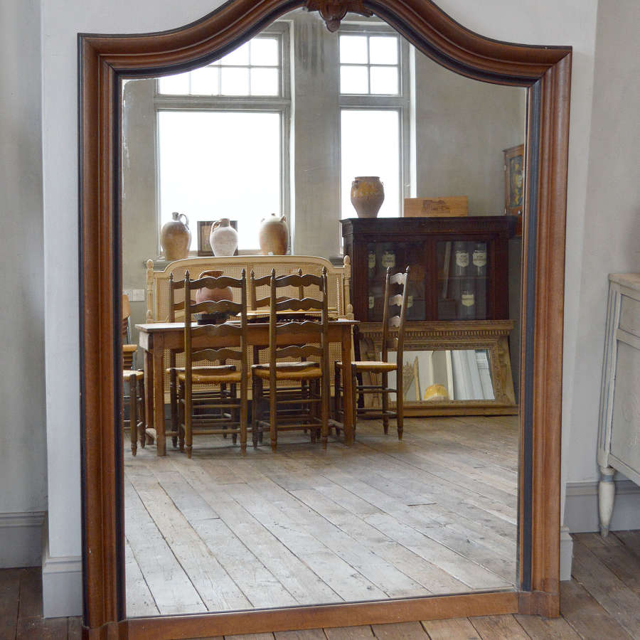 Large Mid 19th Century Walnut Napoleon III Mirror