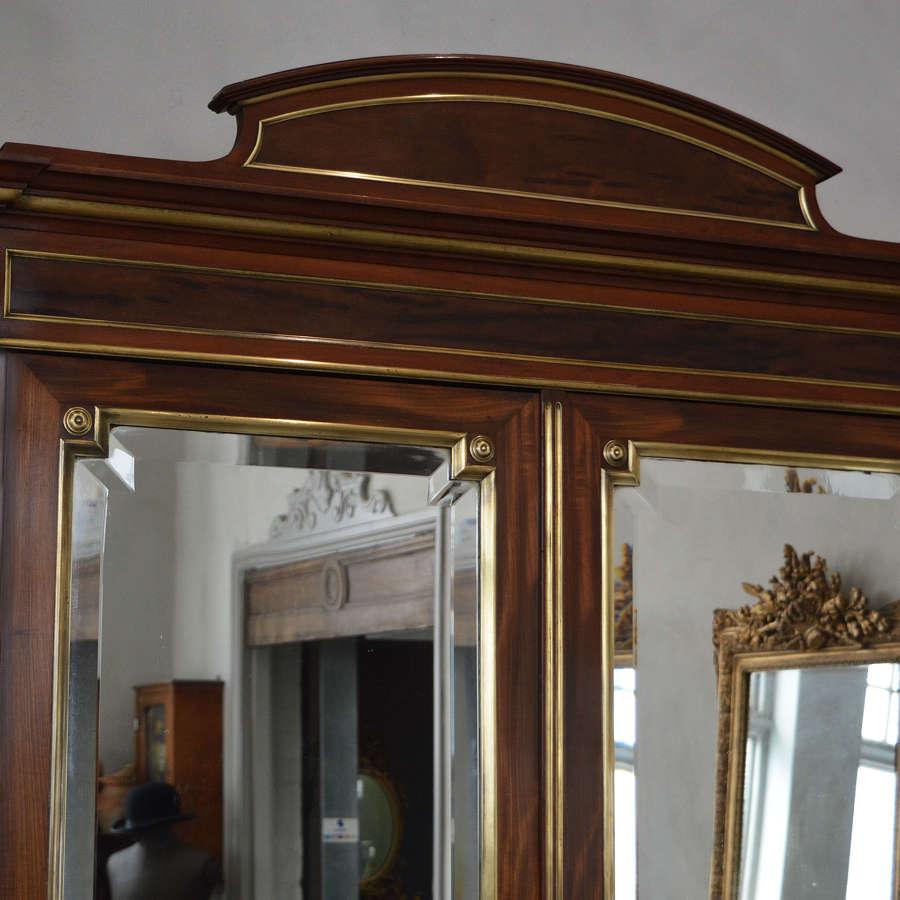 Mid 19th Century Napoleon III Mahogany Armoire