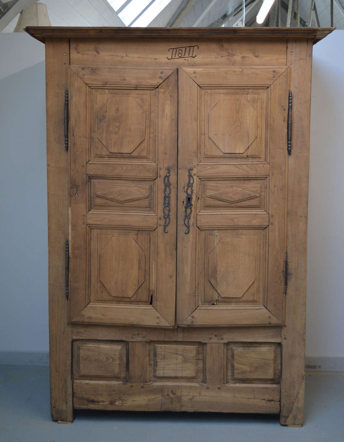 Early 19th Century Breton Armoire c1811