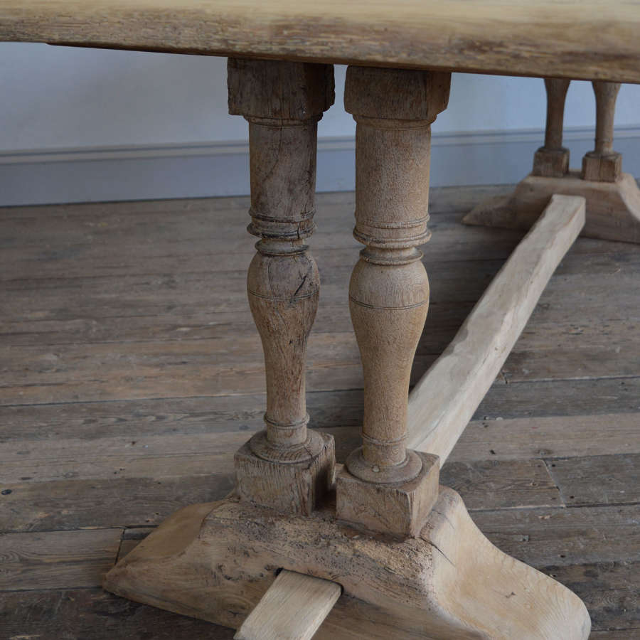 19th Century Heavy Oak Monastery table