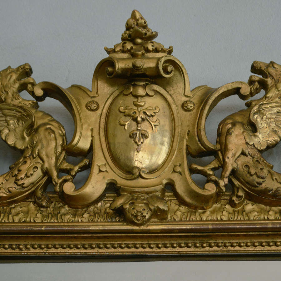 Large 19th Century Renaissance Style Gilt Mirror